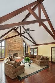 Decorative Beams Scissor Truss Design Living Room Traditional With Wood Beams