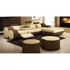 canapé d angle cuir beige canapé d angle relax cuir beige et marron rima achat vente