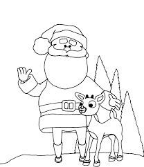 free printable reindeer coloring pages kids christmas