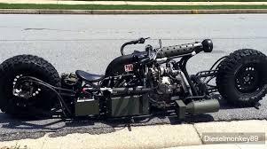 diesel brothers super six hydrostatic twin turbo diesel powered awd motorcycle u2013 engine swap