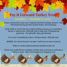 gifts from heaven pay it forward turkey trot