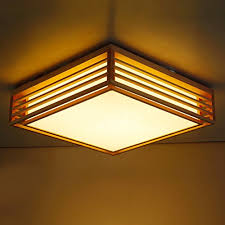 Japanese Ceiling Light Gqlb Solid Wood Square Ceiling Light Japanese Straw Tatami Mats