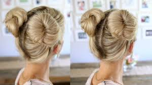 hair buns for hair 3 easy buns space buns for thin normal thick hair