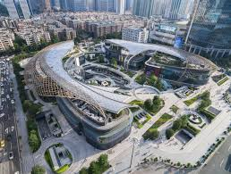 Sq Mt Sq Ft by Stadium For Retail U0027 Opens In China Surrounded By Multi Level Green