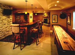 finished basement bar design ideas with granite countertops and