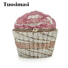 cupcake purse luxury evening bag fashion cupcake diamond clutch small