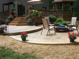 Stamped Patio Designs by Tiered Stamped Concrete Patio Concreations Pinterest