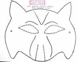 for preschoolers making the kids wolf dog mask template mask
