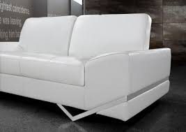 White Leather Sofa Set Vanity White Modern Sofa Set