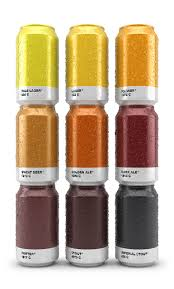 how cool are these beer cans that show the pantone color of the
