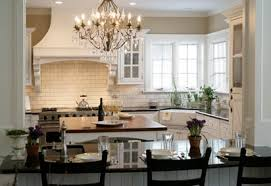 crystal chandelier in kitchen ideas for home decoration
