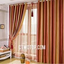 Orange Panel Curtains Striped Blackout Toile Burnt Orange And Orange Modern Heavy Curtains