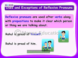 reflexive pronouns youtube