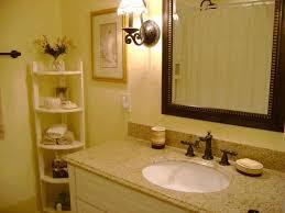 bathroom counter storage ideas white porcelain console sink dark