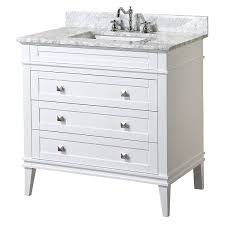 Small White Bathroom Vanities by Kitchen Bath Collection Kbc L36wtcarr Eleanor Bathroom Vanity With