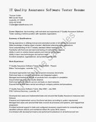 Software Testing Resume Samples For Freshers by Contract Quality Engineer Sample Resume 14 Resume Objective For