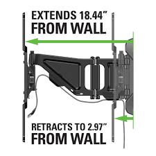 Tv Wall Mount Extension Sanus Full Motion Tv Wall Mount For 37