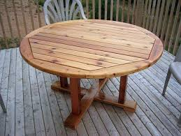 round patio table plans diywoodtableplans round patio table