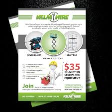 flyer design cost uk business flyer design for kelm hire pty ltd by uk design 9891701