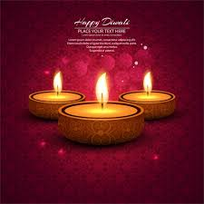 ornamental bokeh background with candles diwali vector free