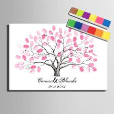wedding tree fingerprint tree signature canvas painting wedding tree wedding