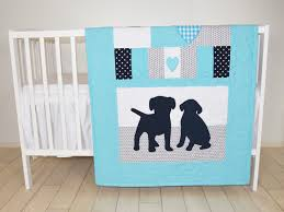 Baby Boys Crib Bedding by Puppy Blanket Dog Nursery Quilt Baby Boy Quilt Boy Crib Bedding