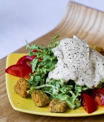 creamy cool vegan ranch dip frisée ranch salad