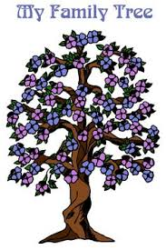 a different family tree design with a big trunk and leaves for