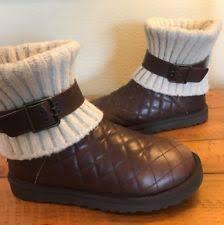 ugg australia s emalie waterproof wedge boot 7us stout brown ugg australia booties medium b m wedge shoes for ebay