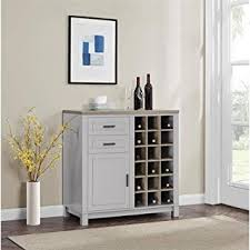 hton bay cabinet drawers amazon com better homes and gardens langley bay bar cabinet gray