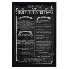 pool table wall art hathaway billiard game rules wall art bg2029bl the home depot
