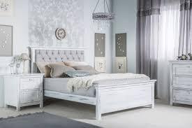 Tufted Headboard Bed Romina Karisma Bed W Beige Linen Tufted Headboard N Cribs