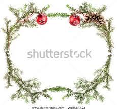 christmas greeting card frame spruce tree stock photo 312552656