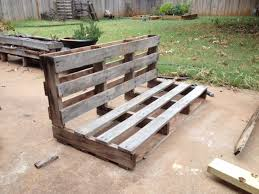Pallet Garden Decor Delightful Bench Made Out Of Pallets Outdoor Decor With Pallet