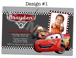 disney pixar cars photo birthday party invitations printable