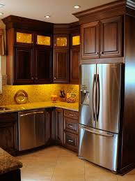 oak kitchen cabinets with stainless steel appliances transitional kitchen with cherry wood cabinets and stainless