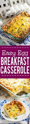 easy egg breakfast casserole recipe
