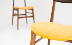 Esszimmerst Le Preis Schwedische Mid Century Stühle Aus Skai U0026 Samt 1950er 4er Set