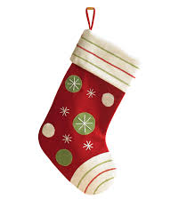 red polka dotted christmas stocking treetopia