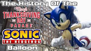 the history of the macy s thanksgiving day parade sonic the