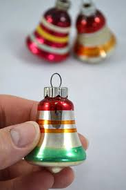 vintage shiny brite bell christmas ornaments small glass