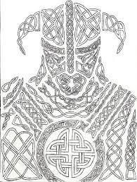 knotwork dovahkiin by ahairybastard deviantart com fantasy