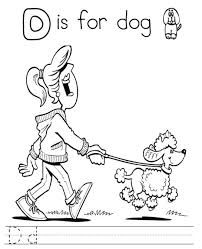 download printable alphabet coloring pages letter d is for dog or