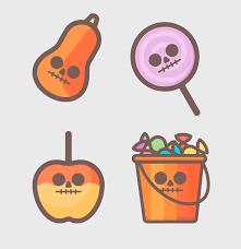 free halloween icons design shock