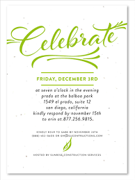 corporate event invitations modern script by green business print