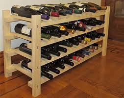 displaygifts wine rack stackable storage stand solid