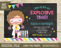 science birthday science party invitation science