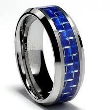 carbon fiber wedding band tungsten carbide ring wedding band 8 0mm blue carbon fiber inlay