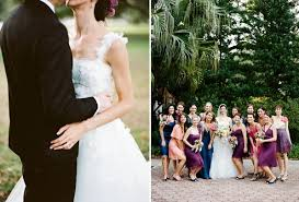 new orleans french quarter wedding party dresses pink purple blue