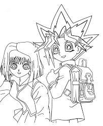 yugi muto tea gardner yu gi coloring netart